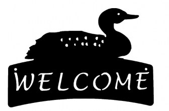 Loon Welcome Plaque 527