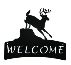 Deer Welcome Plaque 510