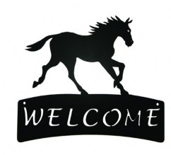 Horse Welcome Plaque 515