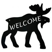 Moose Welcome Sign 522