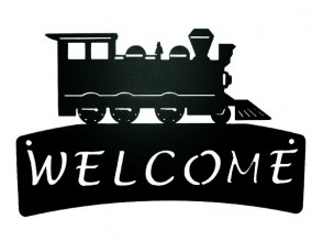 Train Welcome Plaque 539