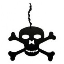 Skull and Crossbones windcatcher